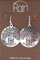 "Rain Jewelry message earrings faith hope & love discs 1-1/2"" round"