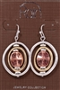 "Rain Jewelry orbit drop earrings 1-5/8"" tri-tone metal"