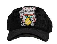 hello kitty ponytail cap black velvet