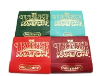 Incense Match matchbook incense 4-pack in the scents of Strawberry, Hollyberry Bayberry, Rain