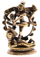 Dancing Shiva, antiqued finish on solid brass.  3""