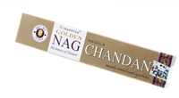 Golden Nag Chandan incense.  15 gram sticks.  Sweet smelling masala sandalwood.