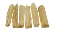 Palo santo wood smudging sticks. 6 sticks, finger size