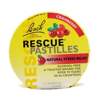 Bach Rescue Pastilles, cranberry, 35 count in round tin.