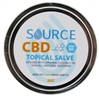 Source 200 mg 2 oz CBD salve, organically grown, hemp-derived, industrial grade and full spectrum.  Source CBD salve is infused in organic coconut oil and beeswax.