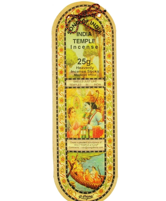 Song of India - India Temple Incense sticks - 25 gm
