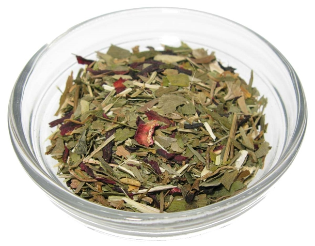 memory tea blend, memory enhancing herbs packaged in resealable stand-up stay fresh pouch.