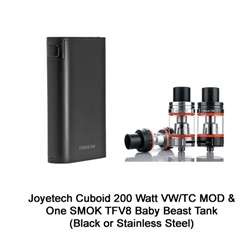 Joyetech Cuboid 200 Watt VW TC Mod Tank Clearomizer Kit