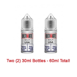 Ultimate Vapor Salts USA Tobacco E-Liquid 60ml - Made in the USA!