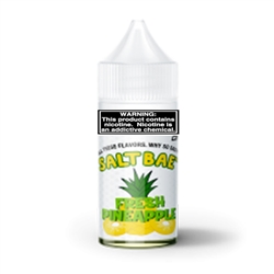 30ml of Salt Bae Nicotine Salts Fresh Pineapple E Liquid - Hand Made in the USA!