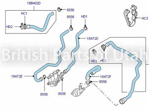 2005 range rover engine diagram range rover heater hose jhc000081 pch001051  range rover heater hose jhc000081 pch001051