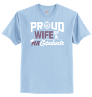 Hanes® 100% Cotton T-Shirt - Proud Wife Design