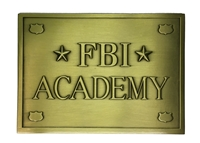 3D FBI Academy Plaque