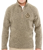Adult Bristol Sweater Fleece Quarter-Zip - Subdued Seal