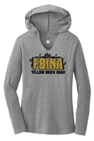 Women's TriBlend Long Sleeve Hoodie - FBINA Yellow Brick Road