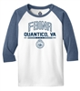 Youth 50/50 Cotton 3/4-Sleeve T-Shirt - FBINA Quantico Logo