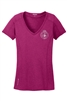 OGIO® ENDURANCE Ladies Pulse V-Neck - Silver Seal
