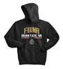 50/50 Cotton/Poly Unisex Pullover Hooded Sweatshirt - FBINA Quantico Virginia Design