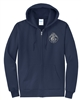 Fleece Full-Zip Hooded Sweatshirt - Subdued Seal
