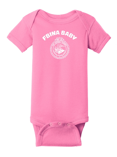 Infant Short Sleeve Baby Rib Bodysuit - FBINA Baby and One Color Seal