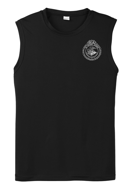 Sleeveless Performance Tee - White Seal