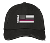 Distressed Cap - Pink Flag