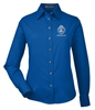 "Harriton Ladies' Easy Blendâ""¢ Long-Sleeve Twill Shirt with Stain-Release - Session Specific"