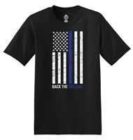 50/50 Cotton/Poly T-Shirt - Thin Blue Line