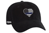 Port & Company® - Ladies Washed Twill Cap - Thin Blue Line Heart