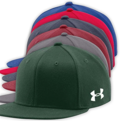 UNDER ARMOUR FLAT BRIM STRETCH FITTED CAP
