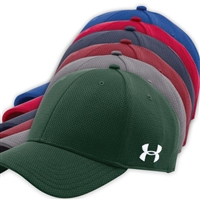 UNDER ARMOUR CURVED BRIM STRETCH FITTED CAP