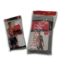 HANES BOXER BRIEFS -- 2 PER PACKAGE