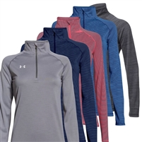 LADIES UNDER ARMOUR STRIPE TECH 1/4 ZIP