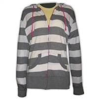 BONNIE STRIPE FULL ZIP HOODY