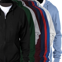 BLANK FULL ZIP HOODED SWEATSHIRT