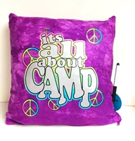 ITS ALL ABOUT CAMP PILLOW