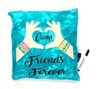 I Love Camp Reversible Sequin Pillow