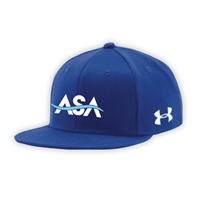 AMERICAN SPORTS ACADEMY UNDER ARMOUR FLAT BRIM STRETCH FITTED CAP