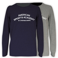 AMERICAN SPORTS ACADEMY THERMAL LONG SLEEVE TEE