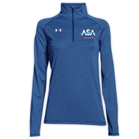 AMERICAN SPORTS ACADEMY LADIES UNDER ARMOUR STRIPE TECH 1/4 ZIP