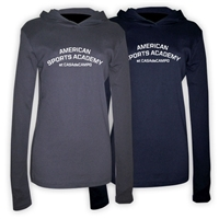 AMERICAN SPORTS ACADEMY AMERICAN APPAREL LONG SLEEVE HOODY