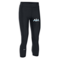 AMERICAN SPORTS ACADEMY LADIES UNDER ARMOUR HEAT GEAR ARMOUR CAPRI