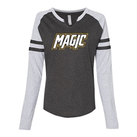 LAT Ladies Gameday Mash-Up Long Sleeve Fine Jersey T-Shirt