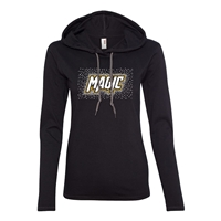 RHINESTONE ANVIL LADIES' LIGHTWEIGHT LONG-SLEEVE HOODED T-SHIRT