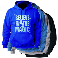 BELIEVE IN THE MAGIC HOODED SWEATSHIRT