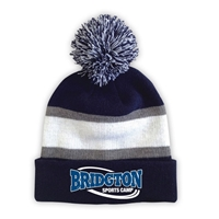 BRIDGTON STRIPED BEANIE WITH POM
