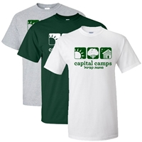 CAPITAL CAMPS OFFICIAL LOGO CAMP TEE