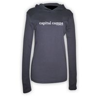 CAPITAL CAMPS AMERICAN APPAREL LONG SLEEVE HOODY