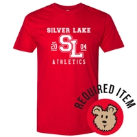 SILVER LAKE RED ATHLETIC LOGO TEE