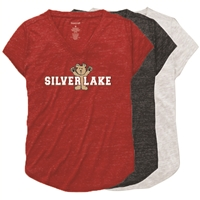 SILVER LAKE RELAXED HEATHER V-TEE